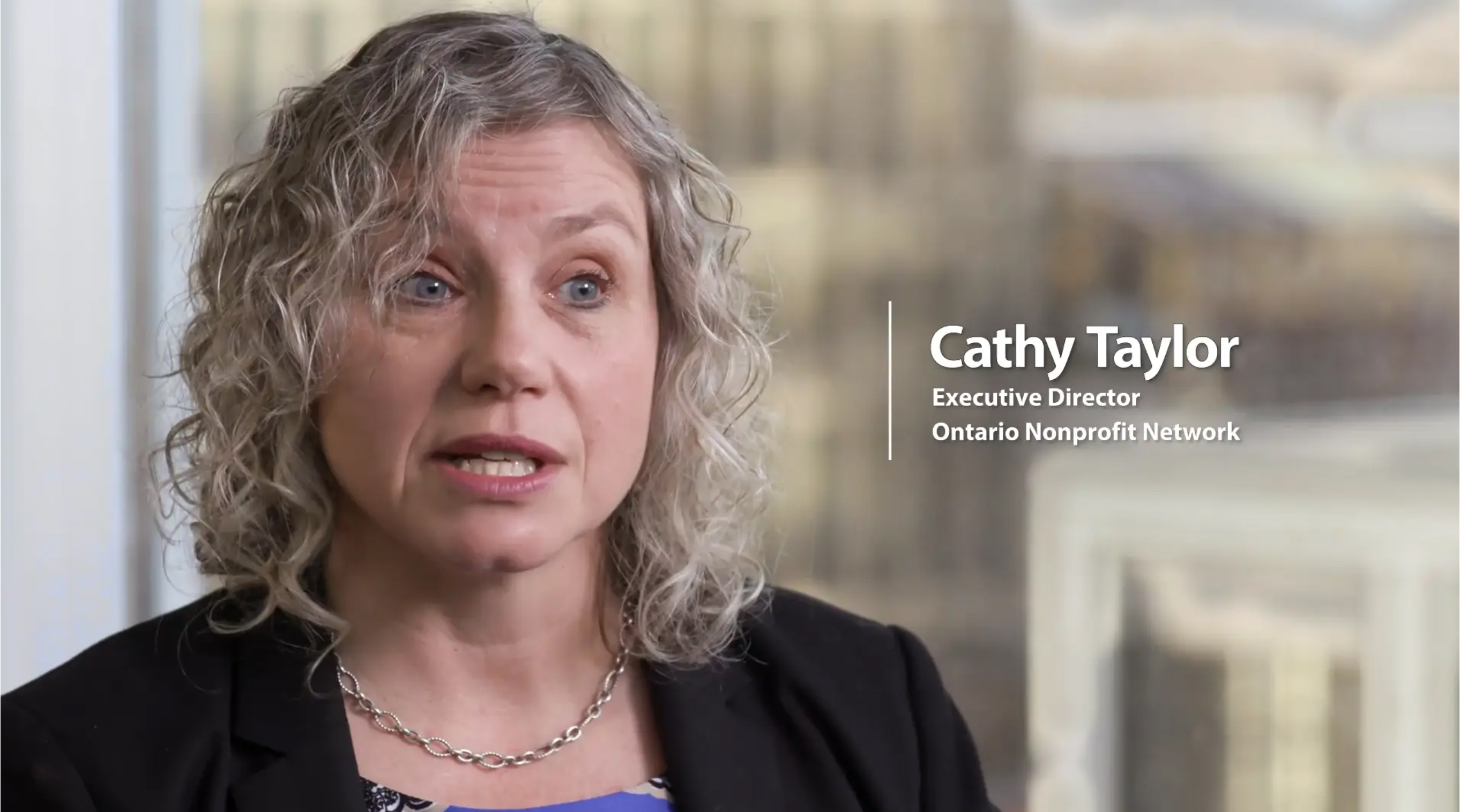 Cathy Taylor, Ontario Nonprofit Network and OPTrust Select